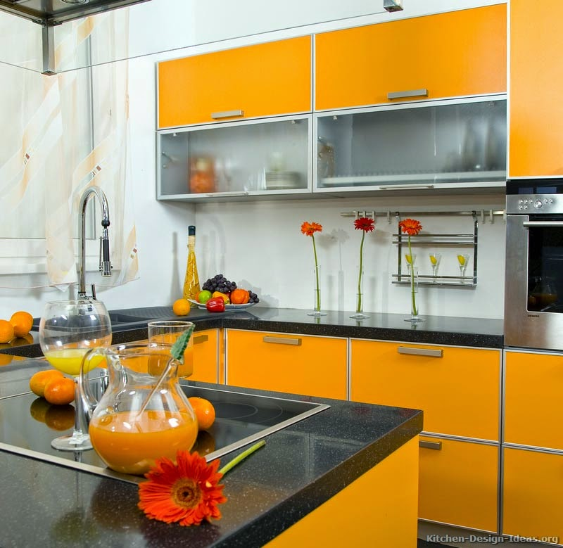 Modern kitchens orange