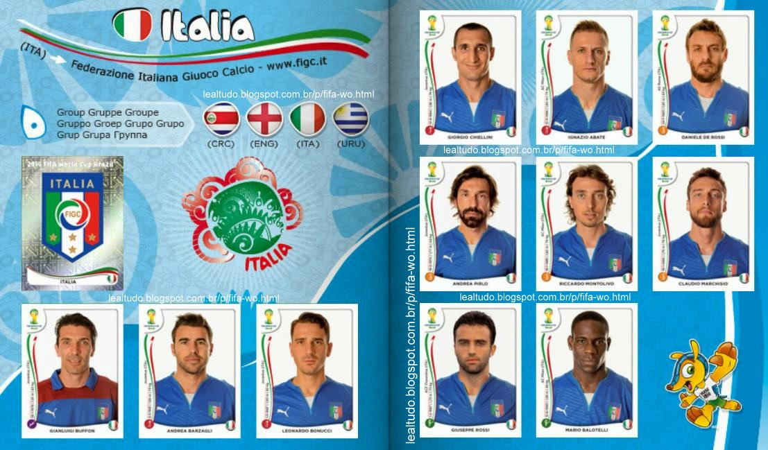 Album ITALIA Fifa World Cup BRAZIL 2014 LIVE COPA DO MUNDO Sticker Figurinha Download Lealtudo