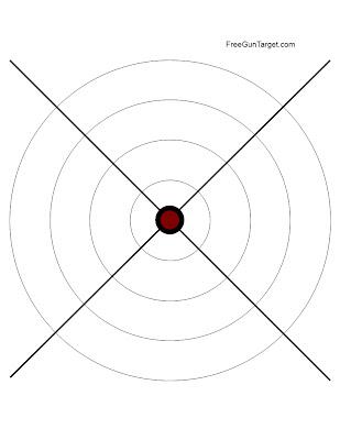 x gun target