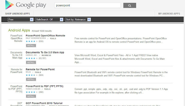 powerpoint viewer apps in google play