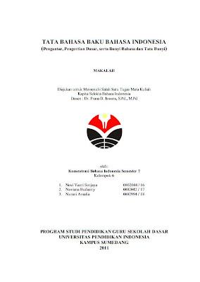 contoh cover makalah bahasa