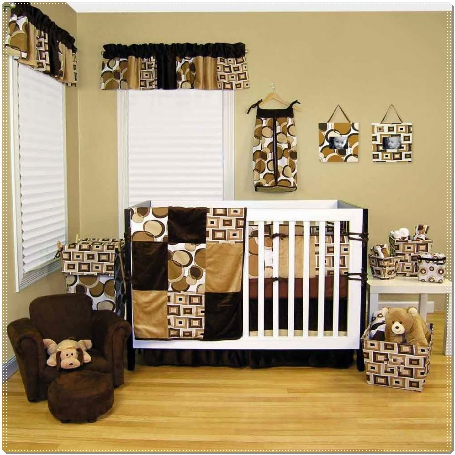 Baby cribs what to look for -  With Brown Baby Crib Added By White Bedding Set Combined By Cloudy Wallpaper Plus 2 Other Photographs Click On The Gallery Thumbnails Below To Check