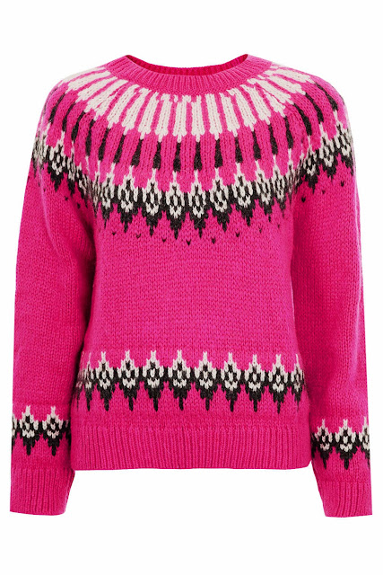 bright pink fairisle jumper
