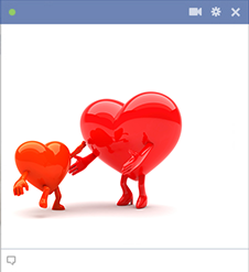 Facebook baby heart emoticon