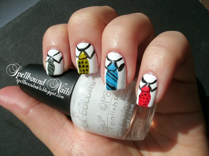 Nail Art Style: Happy Ugly Tie Day