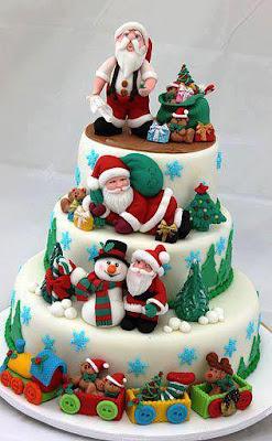 Tarta decoración navideña