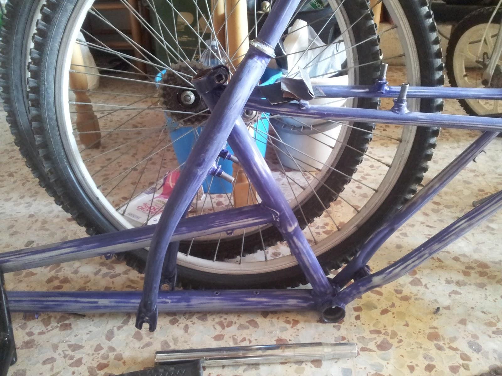 M m diy renovando mi bici de la adolescencia restoring - Pintar llantas bici ...
