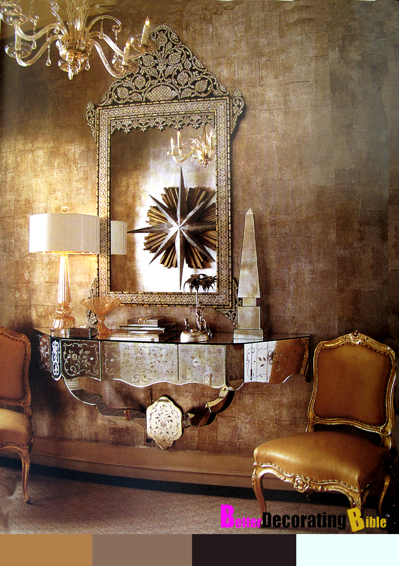House post antique mirrors for Living room ideas gold