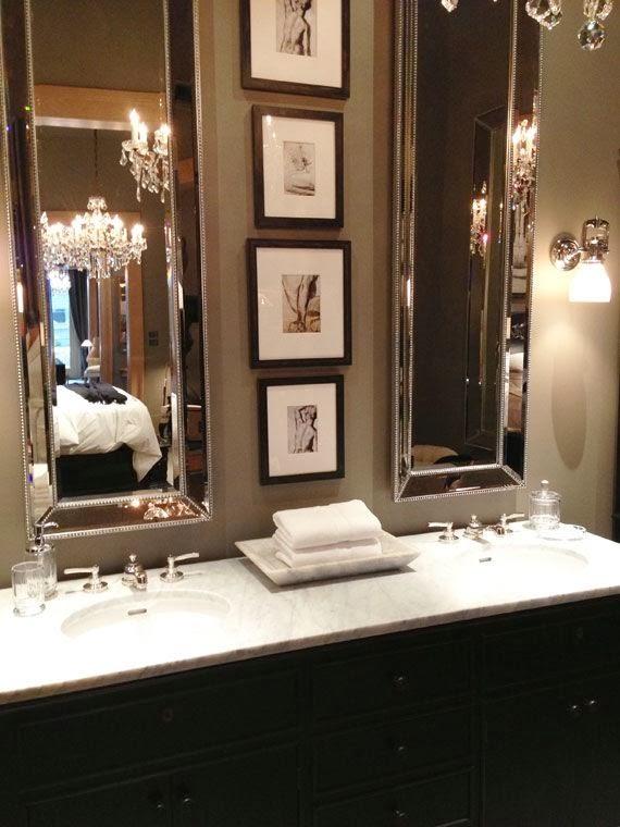 double mirrors bathroom