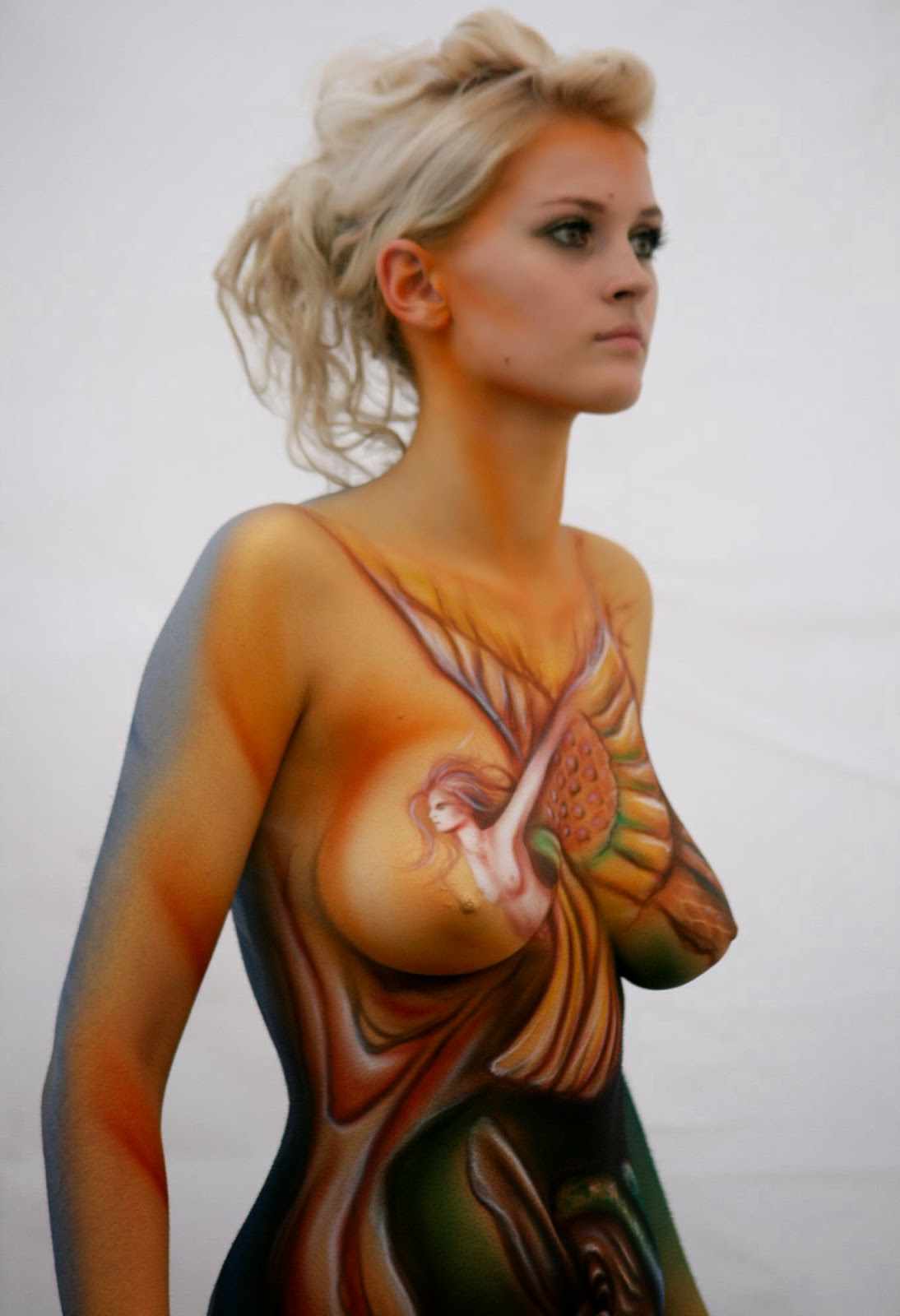 Valuable idea Body paint nude girls