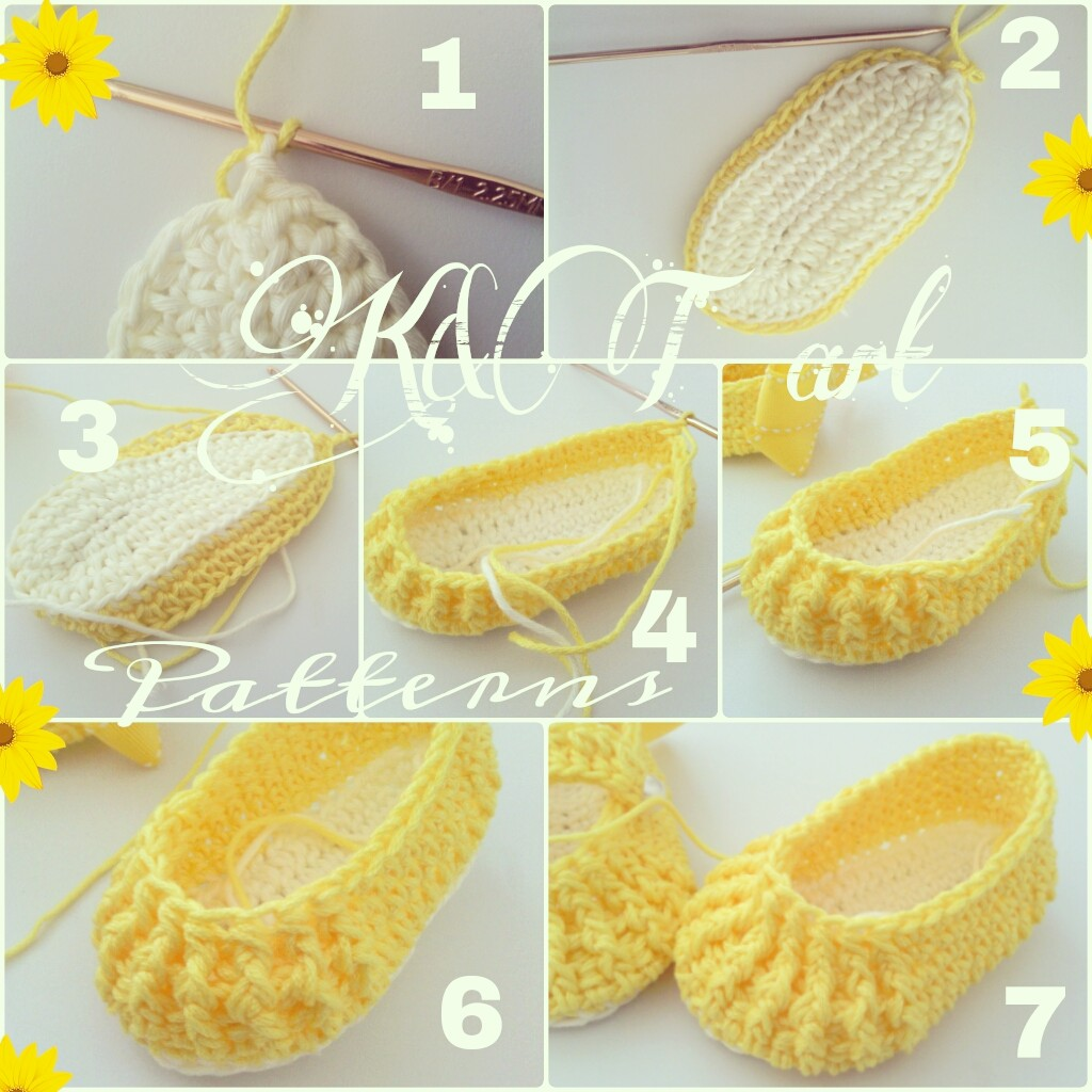 Free Crochet Pattern For Baby Boat Shoes : Crochet Baby Shoe Sole Pattern
