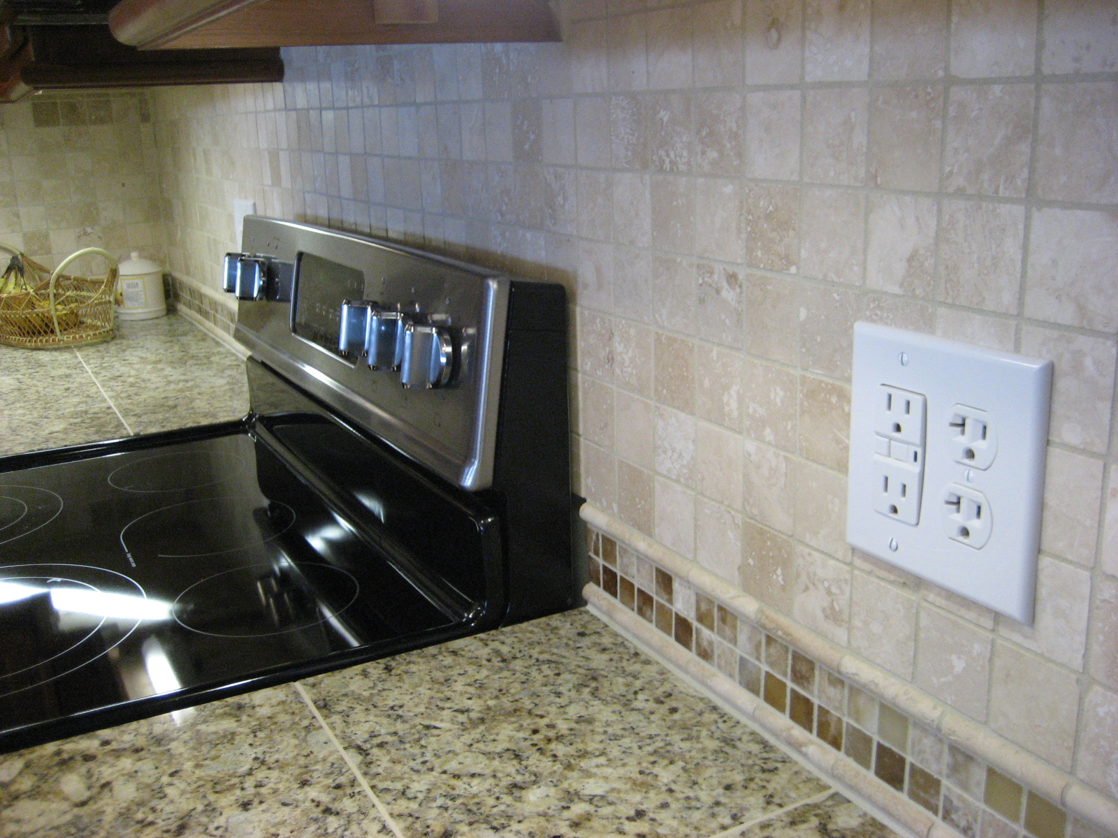 Kitchen Tiles Backsplash Cherry Cabinets