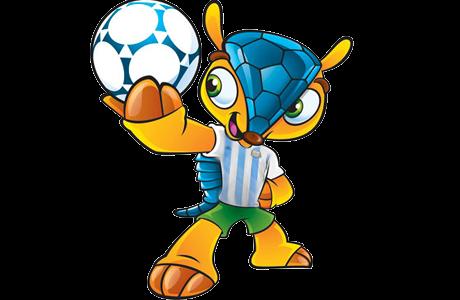 Fuleco con la camiseta argentina