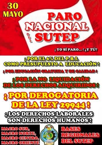 30 DE MAYO PARO NACIONAL