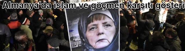 Almanya'da islam ve göçmen karşıtı gösteri