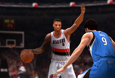 NBA Live 14 Damian Lillard & Ricky Rubio Screens