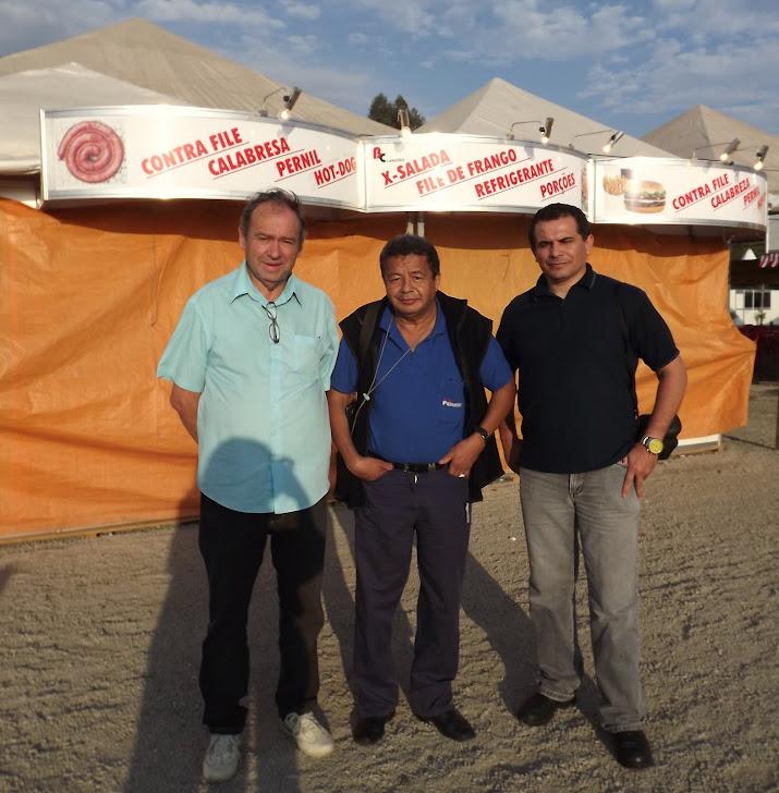 Jornalistas Gilberto, Paulinho e Genivaldo