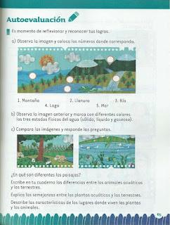 Apoyo Primaria Exploración de la Naturaleza y la Sociedad 2do Grado Bloque II Autoevaluación