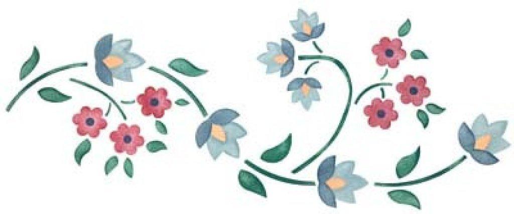Dibujos de flores para cenefas imagui - Plantillas de dibujos para paredes ...