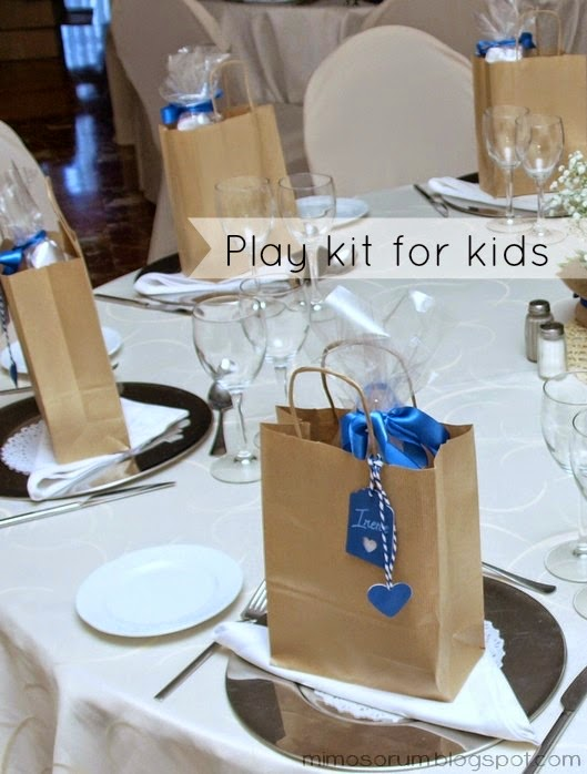 Kit de entretenimiento para los niños. Play kit for kids.