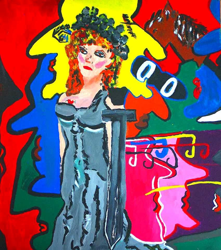 "ALBERTO BERMÚDEZ. ""Doña Pepa Punk"". Acrílico sobre lienzo. 50 x 40 cms."