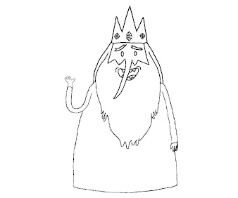 #6 Ice King Coloring Page
