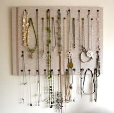 Create a visual backdrop for necklaces