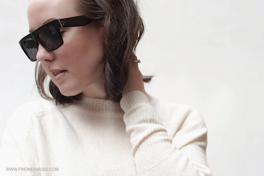 Celine ZZ top sunglasses Scanlan and Theodore alpaca knit