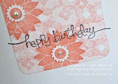 Happy birthday sentiment from A Word For You by Stampin' Up