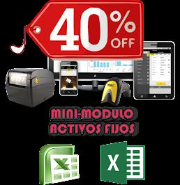 PROMOCION 40% OFF: Mini-Modulo Activos Fijos Excel V 1.0