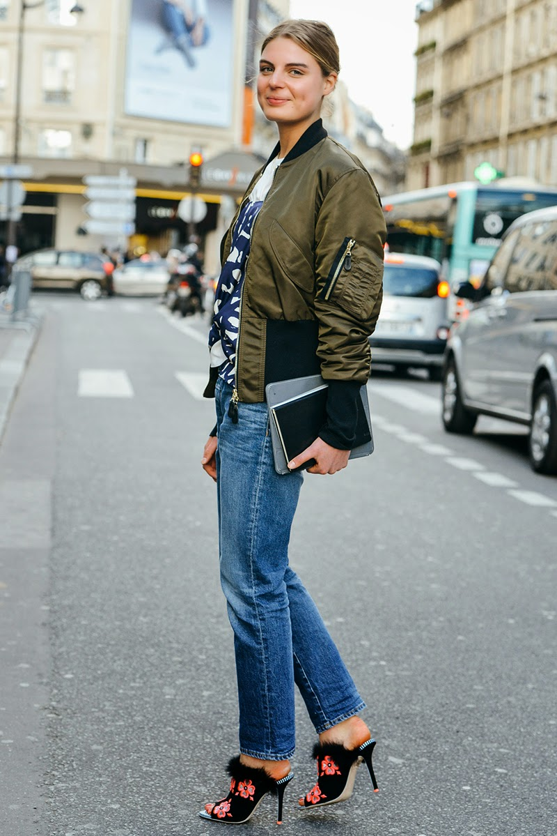 Look of the day: How to wear a bomber jacket