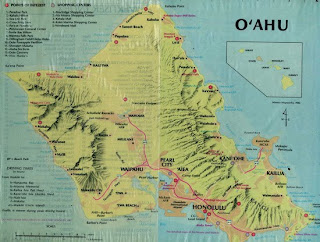 Hawaii Oahu map for tourists and drivers