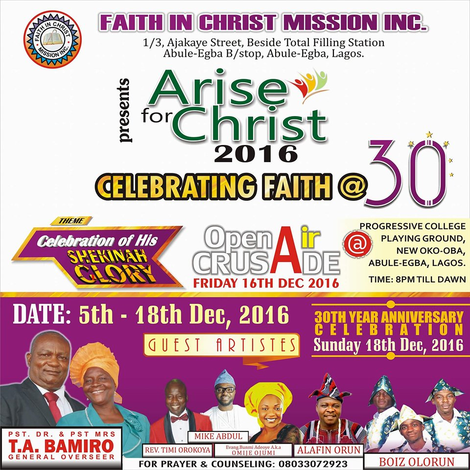 Arise For Christ 2016