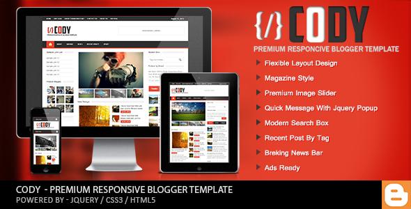 Cody - Responsive Magazine Blogger Templates