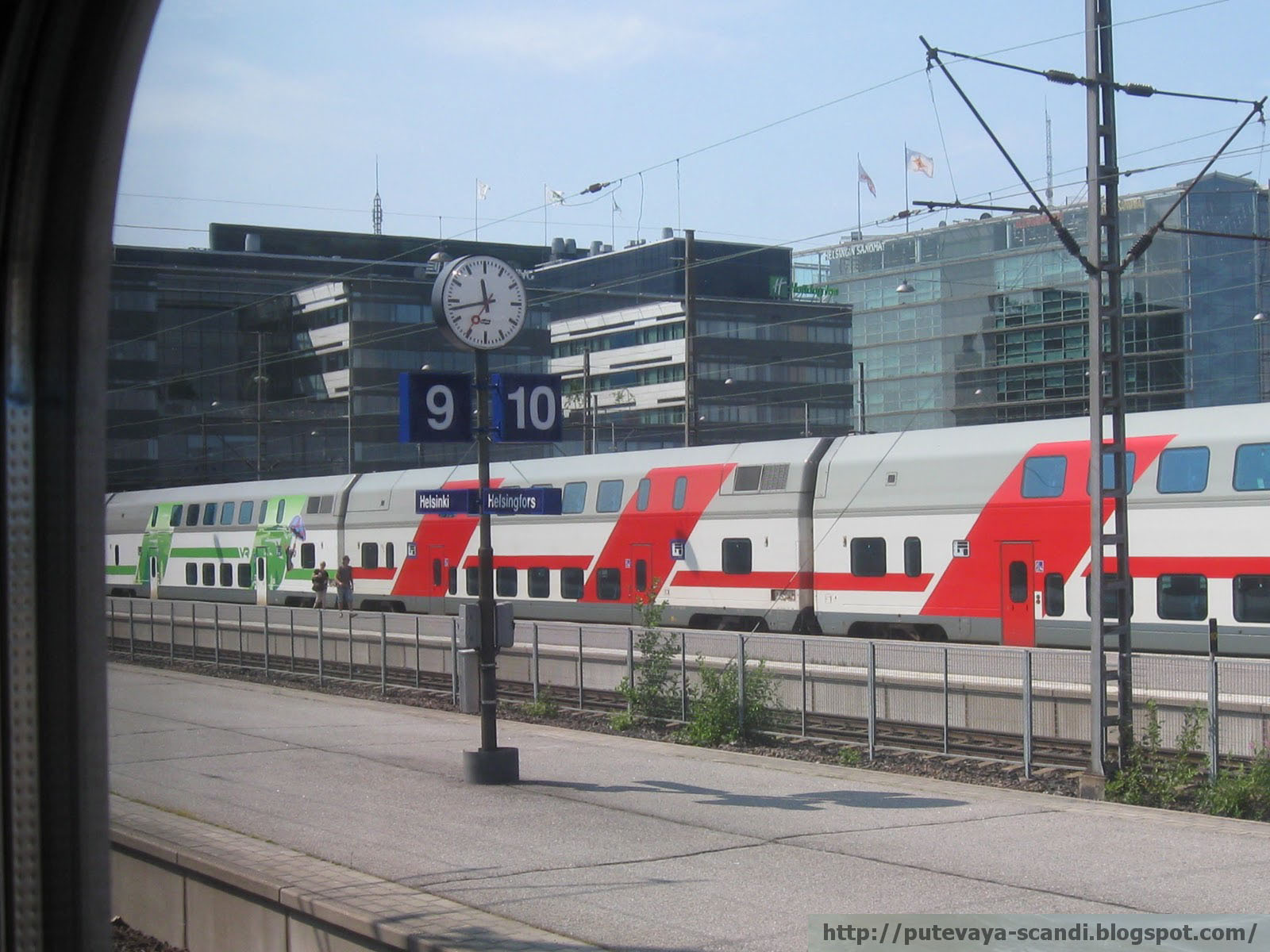 комфортабельный финский поезд