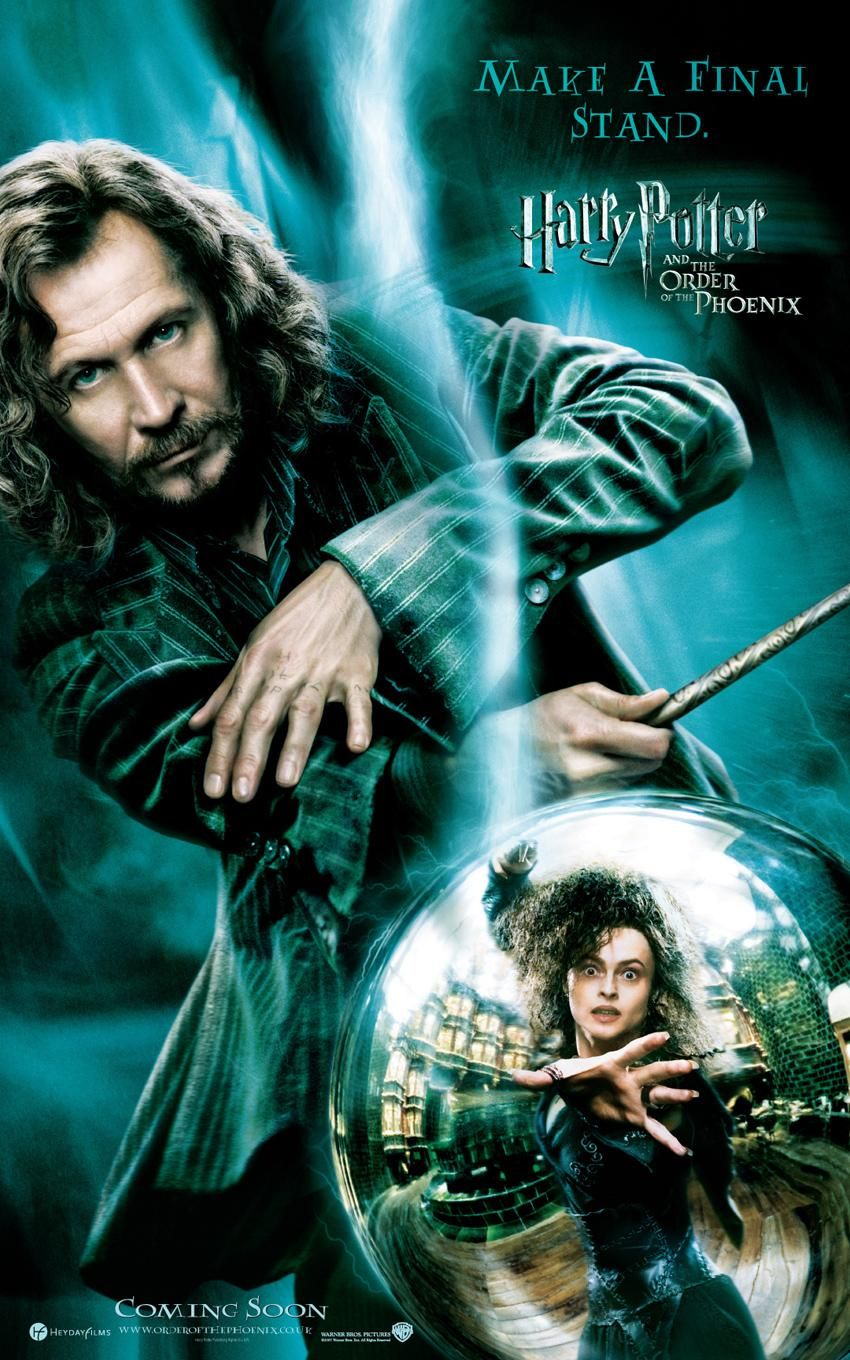 ... of characters had solo posters for this movie, but I like Sirius
