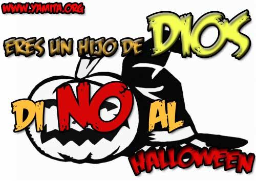 tarjeta para halloween eres un hijo de dios di no al halloween