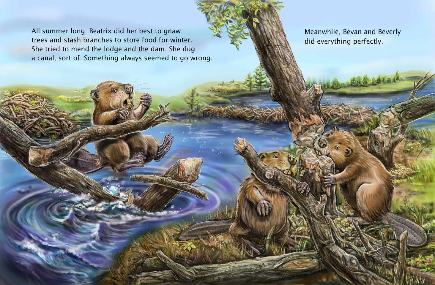 how do beavers know how to build dams