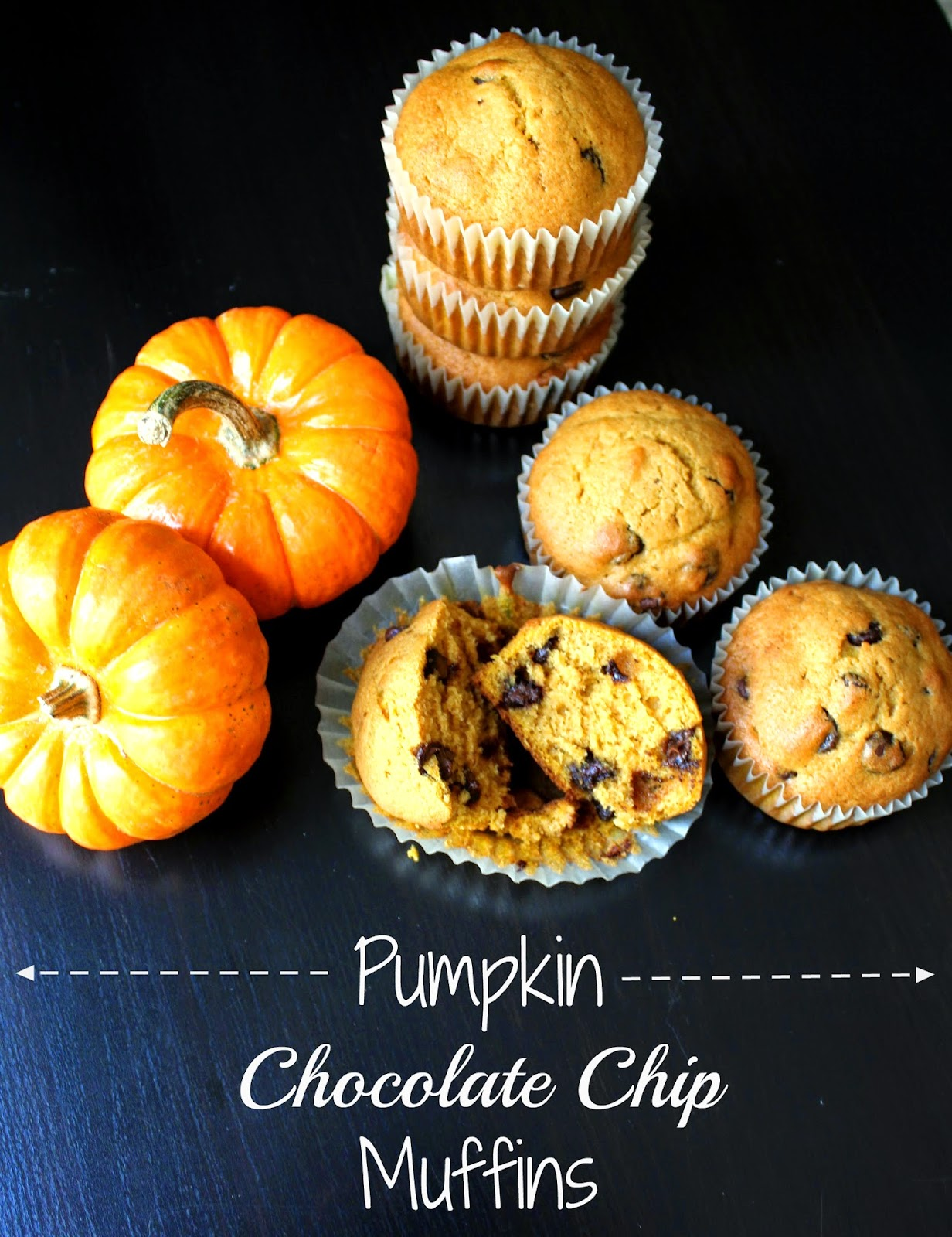 Pumpkin Chocolate Chip Muffins!