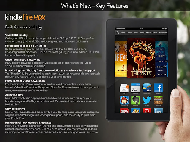 Kindle Fire HDX Features