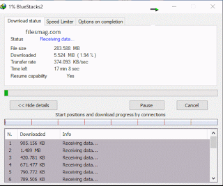 Example of Internet Download Manager 2016 Running on Windows