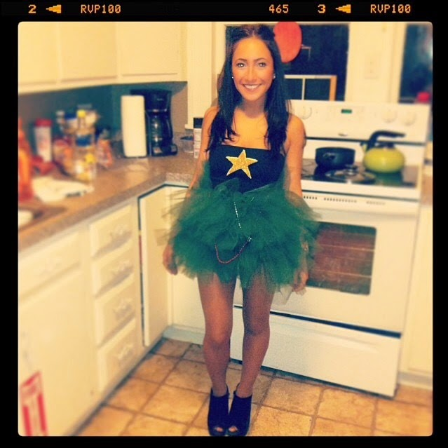 The Beetique: #TBT: DIY Christmas Tree Costume