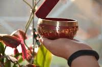 Red Cast Tibetan Singing Bowl