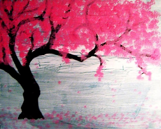 japan cherry blossom drawing. cherry tree lossom tattoo.