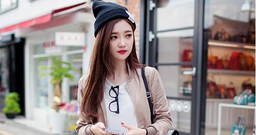 Kstylick Latest Korean Fashion K Pop Styles Fashion Blog Chuu Beige Bomber Jacket