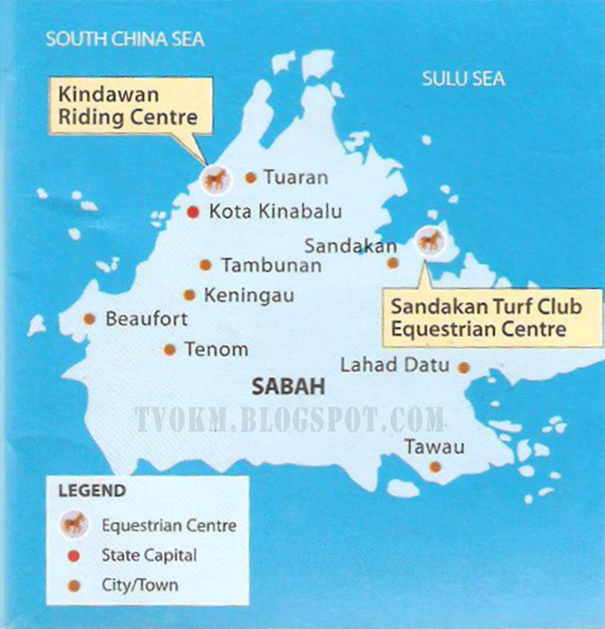 Kindawan Riding Centre and Sandakan Club Equestrian Centre (Sabah Map)