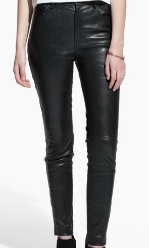 Rebajas SS 2015 fondo de armario pantalones piel negros