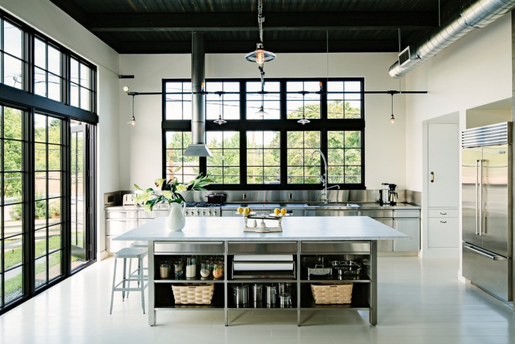 Elegant Industrial Loft Kitchen Stainless Steel