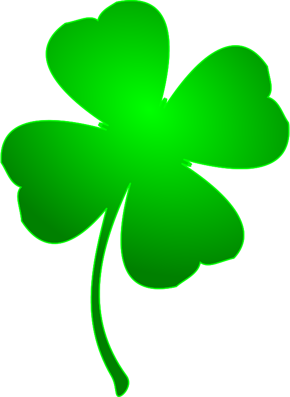green four leaf clover from openclipart.com