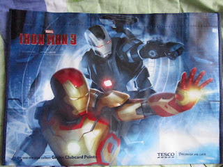 Marvel Legends Iron Man Warmachine 3 movie comic Universe Avengers Force Works Mandarin Tesco Recycle bags Green
